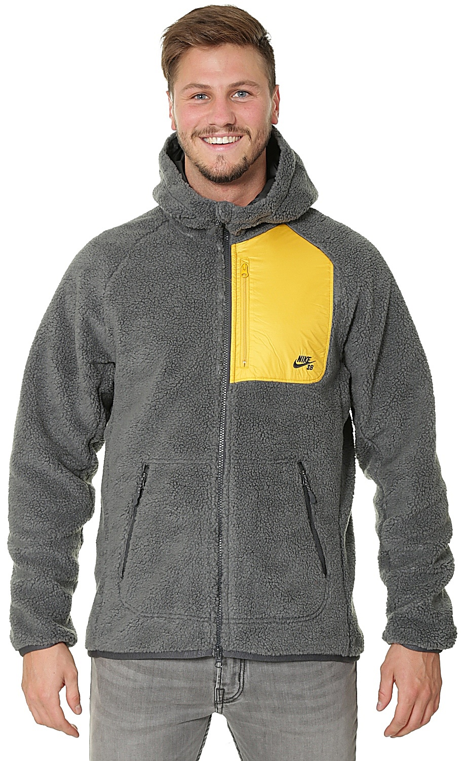 cute cheap details for detailed pictures sweatshirt Nike SB Everett Sherpa Zip - 060/Anthracite ...