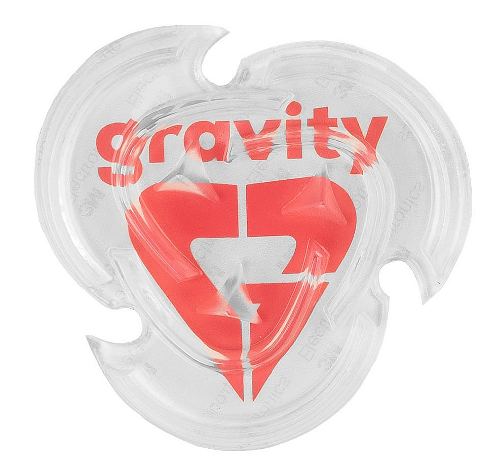grip Gravity Heart Mat - Clear one size