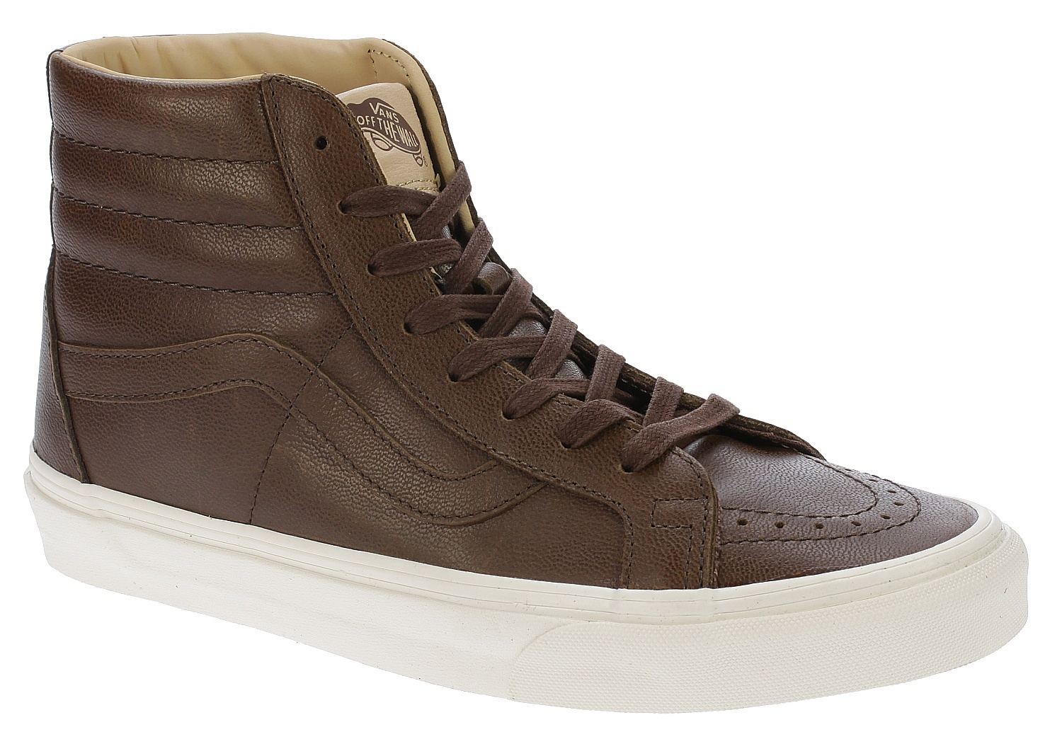 abe65ff1e19 shoes Vans Sk8-Hi Reissue - Lux Leather Shaved Chocolate Porcini -  Snowboard shop