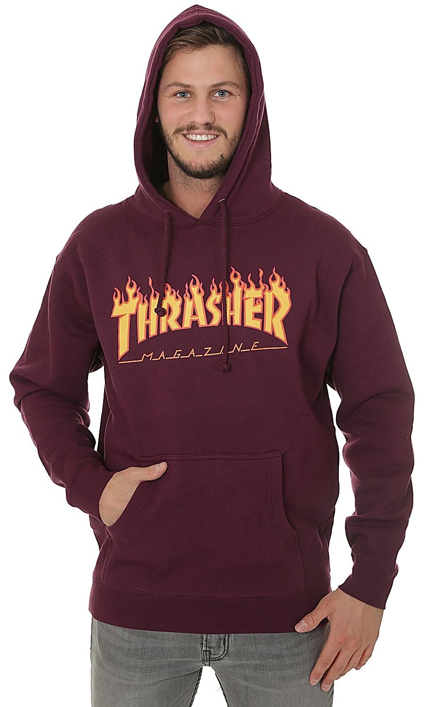 mikina Thrasher Flame Logo - Maroon