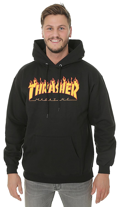 mikina Thrasher Flame Logo - Black