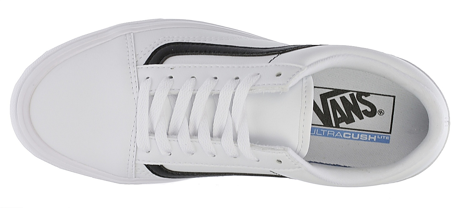 f09af8722d ... shoes Vans Old Skool Lite - Classic Tumble True White Black ...