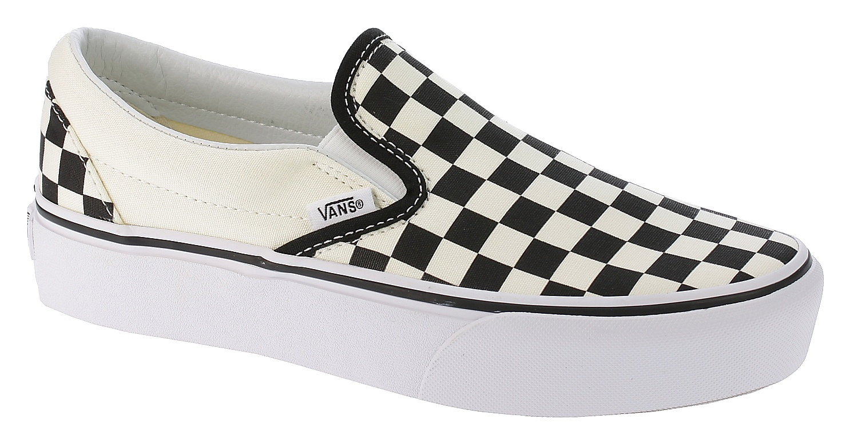 boty Vans Classic Slip-On Platform - Black And White Checker White 35 6b39e57007