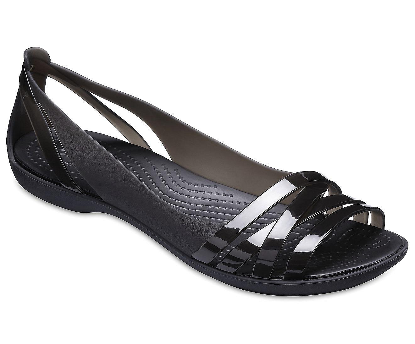 ccccffe8609 boty Crocs Isabella Huarache 2 Flat - Black Black 36 37