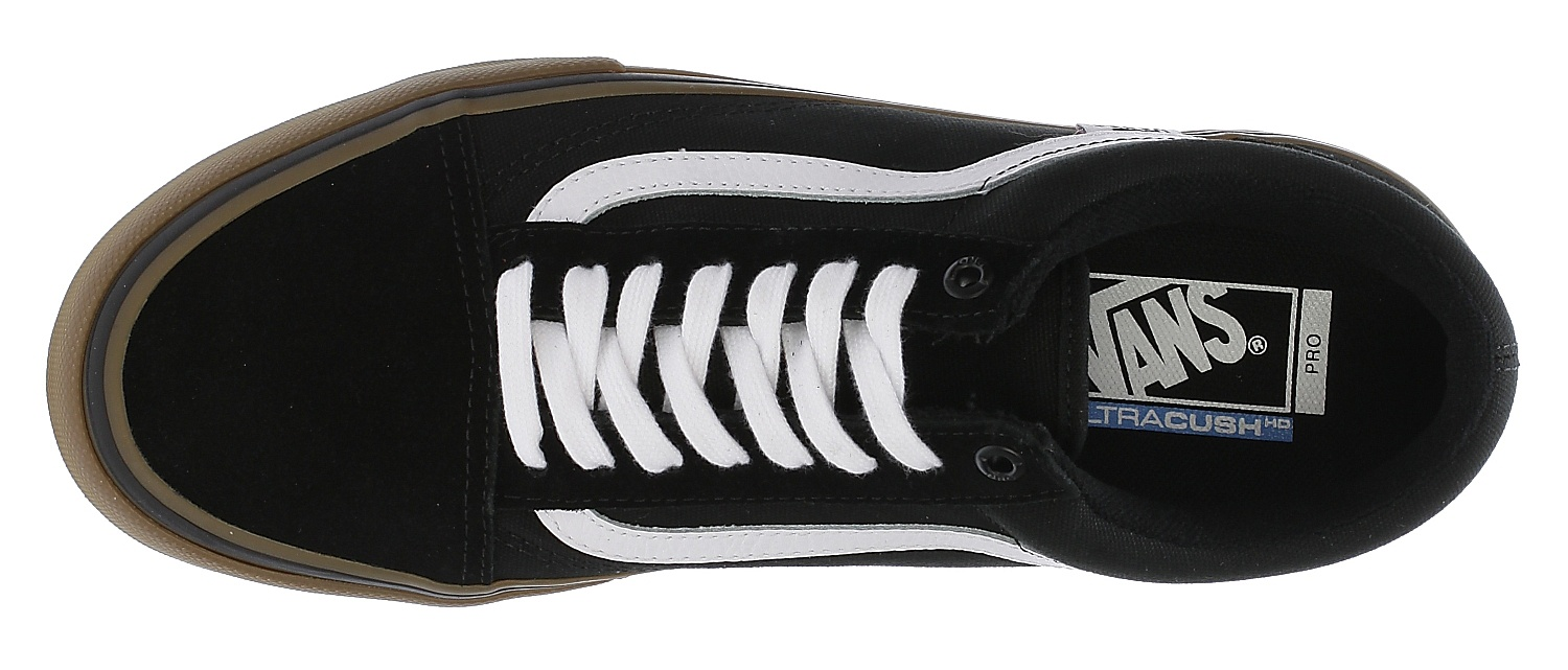 chaussures Vans Old Skool Pro - Black/White/Medium Gum
