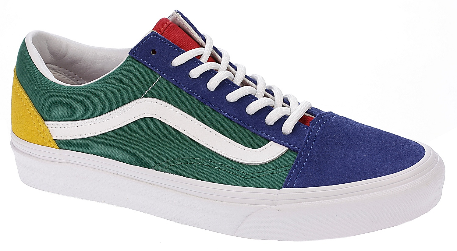 vans old skool blue red yellow green