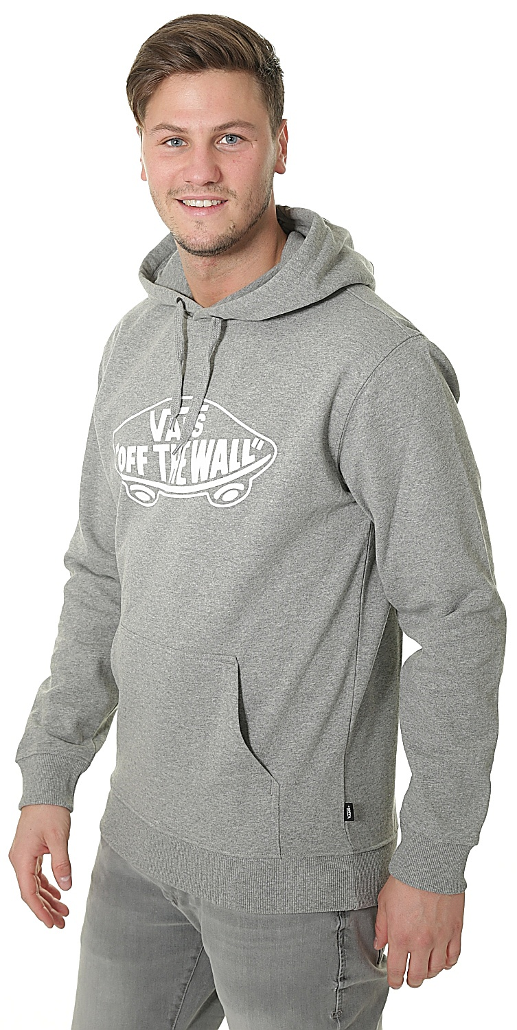 74cc6013662213 ... sweatshirt Vans OTW Pullover Fleece - Concrete Heather White Outline ...