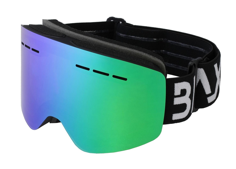 brýle BLAX Fantom - Black/Green Mirror one size