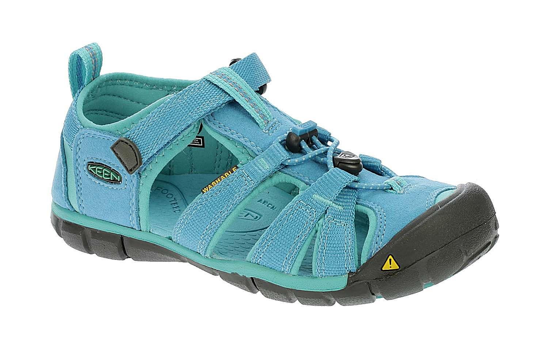 c8f9a224555 Dětské sandály KEEN Seacamp II C nabízí lehoučké a přitom velmi odolné  zpracování. Nezapřou inspiraci minimalismem. Snadno se nazouvají díky  systému ...