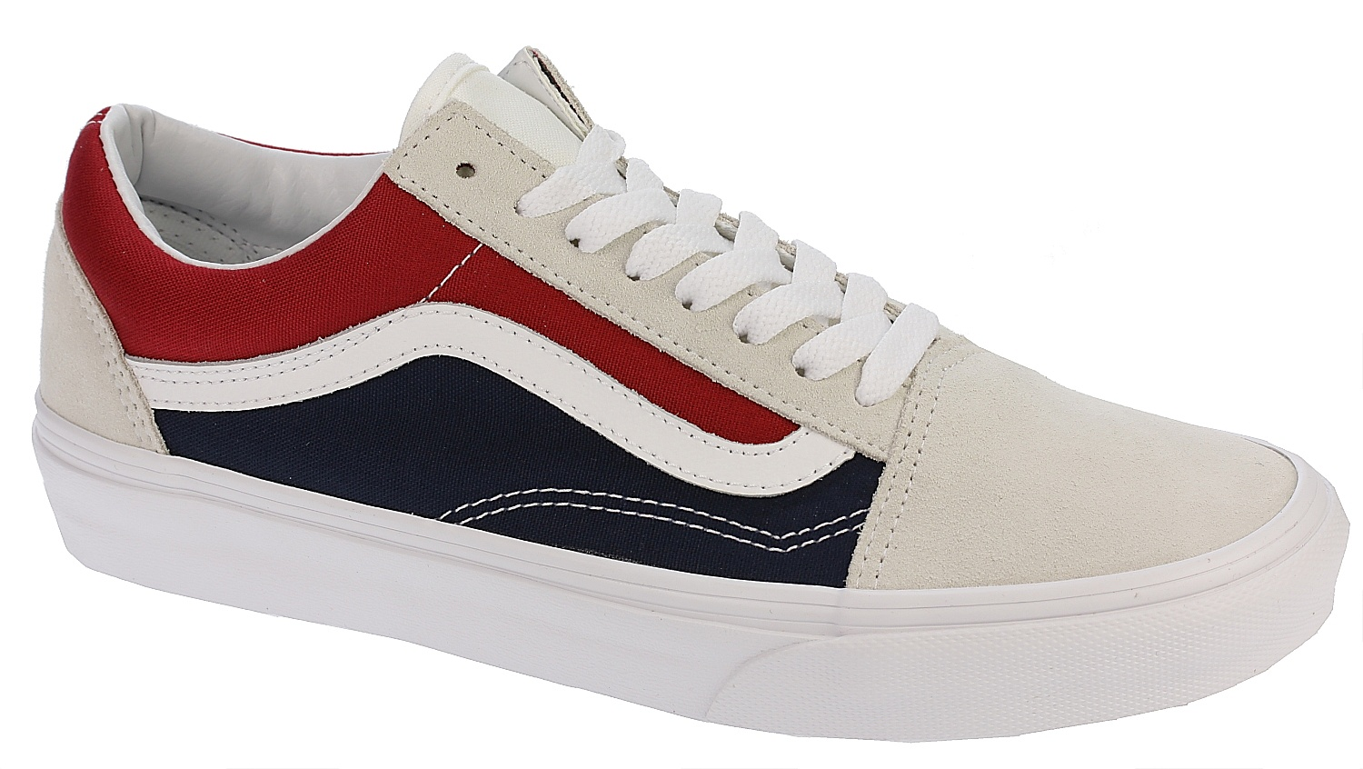 shoes Vans Old Skool - Retro Block White Red Dress Blues - Snowboard shop 0f1b21a1b