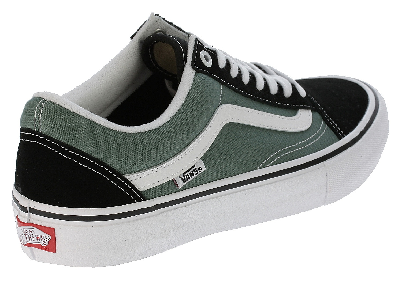 shoes Vans Old Skool Pro - Black Duck Green - Snowboard shop ... c7ec66238