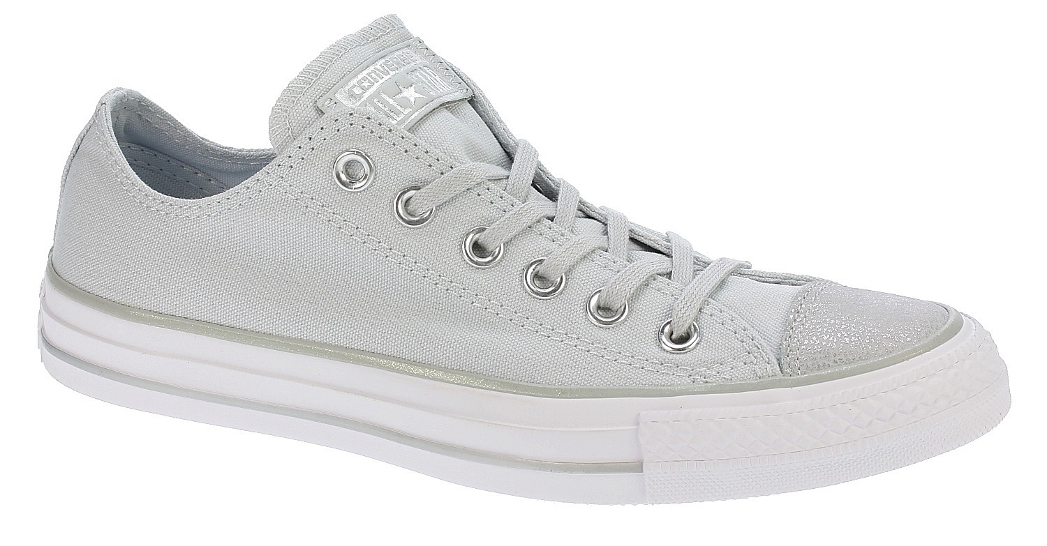 e83cb00c13d boty Converse Chuck Taylor All Star Tipped Metallic OX - 559888 Pure  Platinum Silver