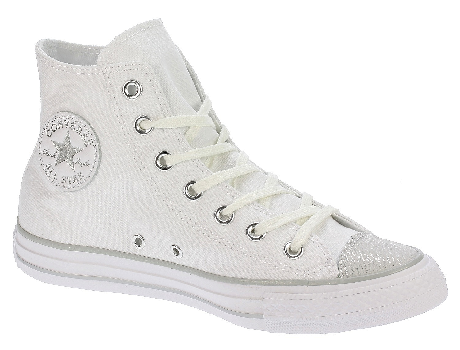 037df389008 boty Converse Chuck Taylor All Star Tipped Metallic Hi - 559886 White Silver