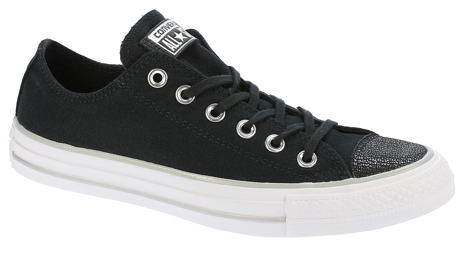 boty Converse Chuck Taylor All Star Tipped Metallic OX -  559887 Black Silver  3e0c548929d