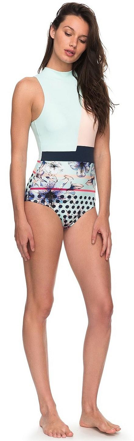 81ebd5222d ... swimsuit Roxy Pop Surf Fashion One Piece - BEK7/Blue Light Rain Daze  Small