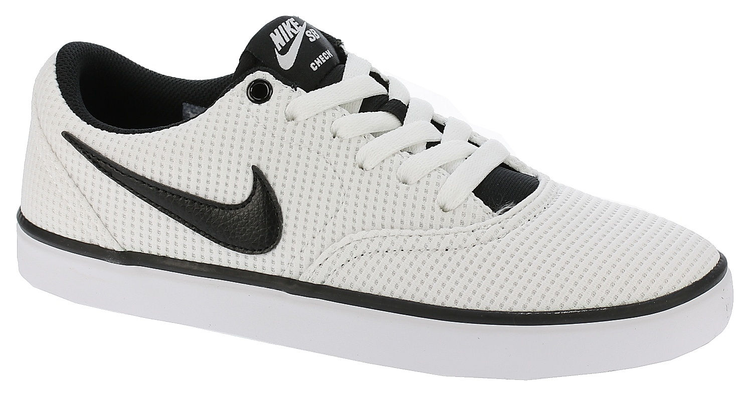 e758477922 shoes Nike SB Check Solar Canvas - White Black White - Snowboard shop