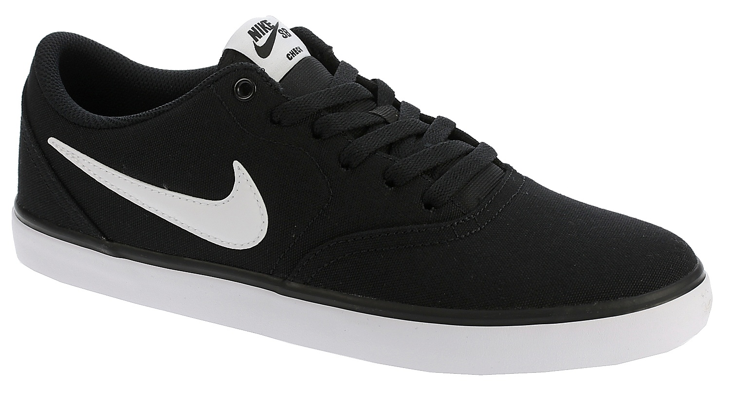 boty Nike SB Check Solar Canvas - Black/White 44.5