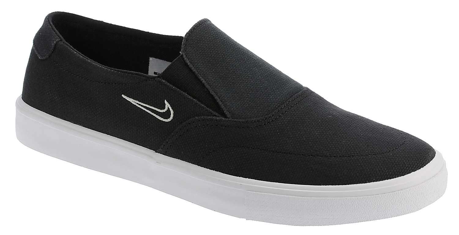 cheaper 151c2 e7fc5 shoes Nike SB Portmore II Solarsoft Slip-On Canvas - Black Black Light Bone  - Snowboard shop, skateshop - snowboard-online.eu