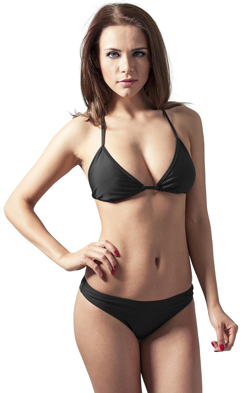 b37459018 plavky Urban Classics Triangle Bikini/TB1168 - Black XS