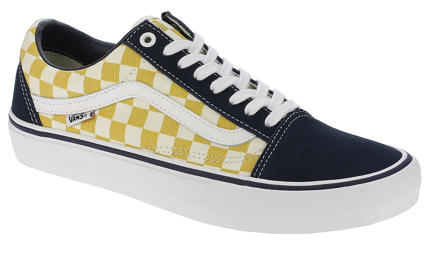 c14226255e24a1 shoes Vans Old Skool Pro - Checkerboard Dress Blues Ochre - Snowboard shop