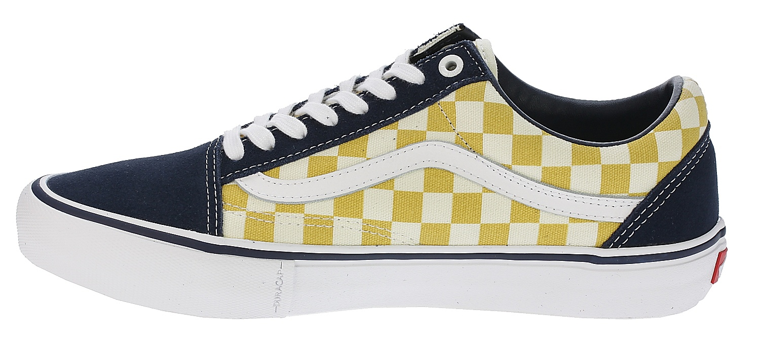 6bfa4549b5997b ... shoes Vans Old Skool Pro - Checkerboard Dress Blues Ochre ...