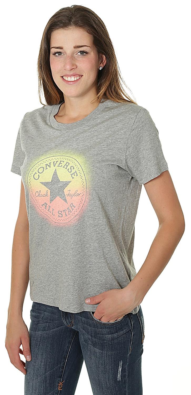 76d10932206 tričko Converse Ombre Chuck Patch Crew 10006034 - A03 Vintage Gray Heather  ...