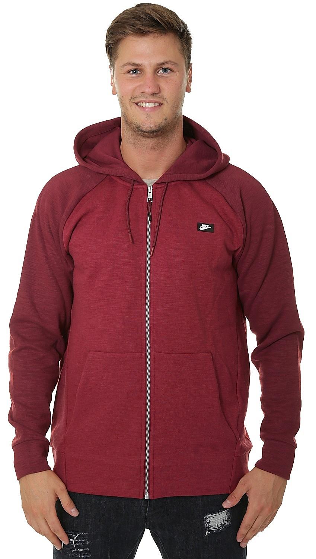 mikina Nike Sportswear Optic Hoodie Zip - 677 Team Red Heather Team Red 0d9113309b