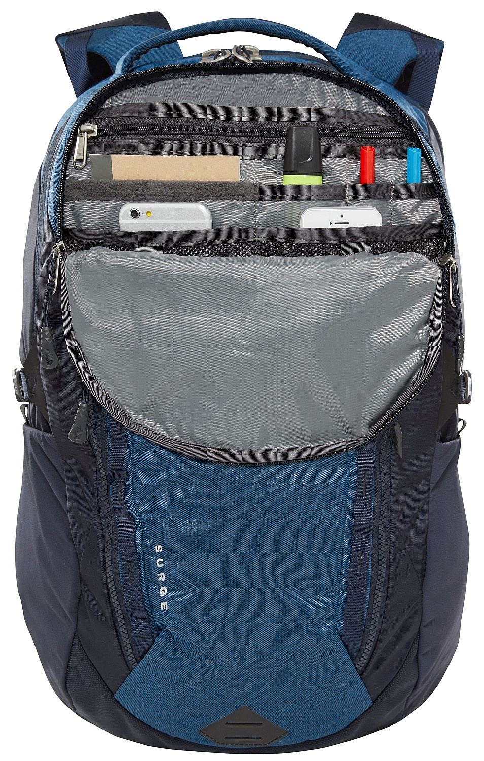 9e1ffb0dec ... backpack The North Face Surge 31 - Dish Blue Light Heather/Urban Navy  ...