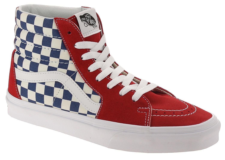 11863b569d0213 shoes Vans Sk8-Hi - BMX Checkerboard True Blue Red - Snowboard shop ...