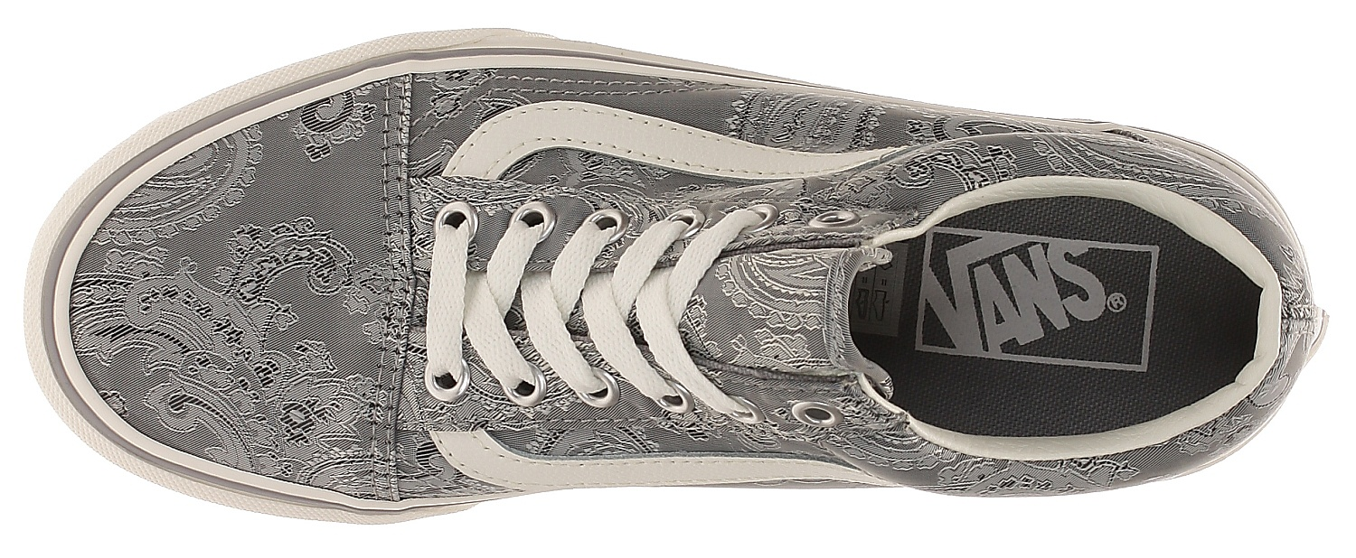 68fb8d44836 shoes Vans Old Skool Platform - Satin Paisley Gray Snow White ...