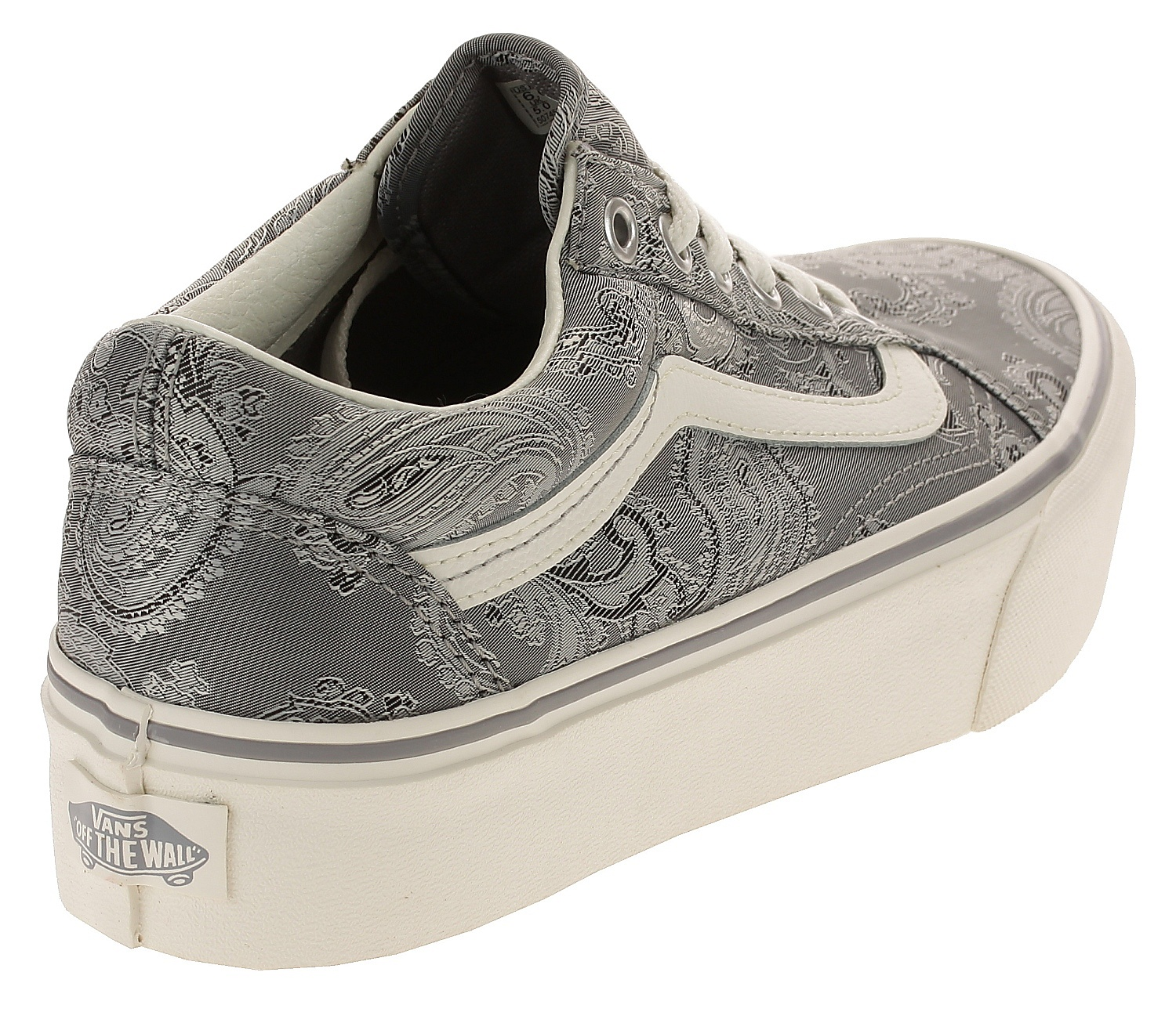 7a0bf37b17f ... shoes Vans Old Skool Platform - Satin Paisley Gray Snow White ...