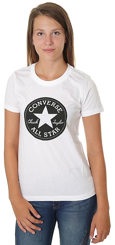 tričko Converse Chuck Patch Crew 10007043 - A01 White L dc730aa7e7