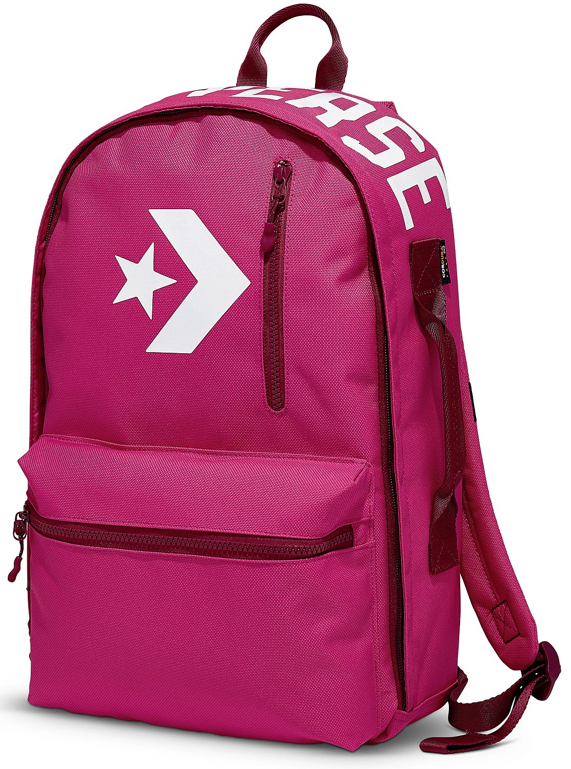 Backpack Converse Street 22 10006916 A03 Pink Pop Pomegranate Red White