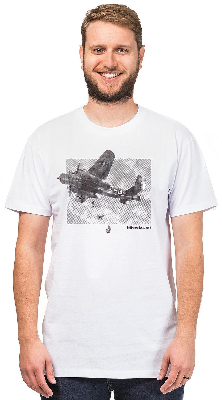 tričko Horsefeathers Bomber - White M