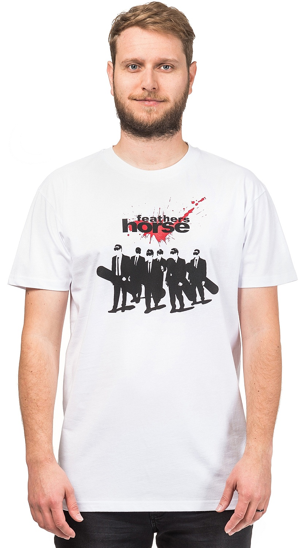 tričko Horsefeathers Dogs - White L