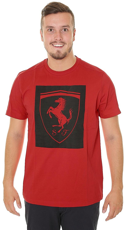 tričko Puma Ferrari Big Shield - Rosso Corsa - Snowboard shop ... 38948117ce6