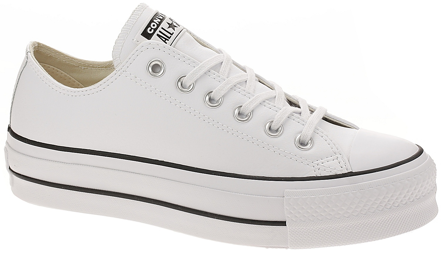 boty Converse Chuck Taylor All Star Lift Clean OX - 561680 White Black  596691671d