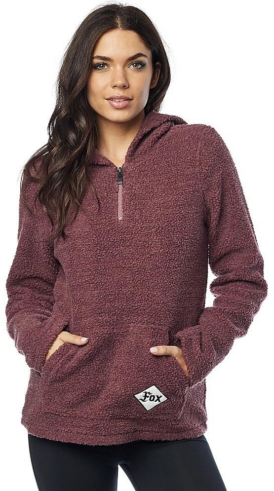 mikina Fox Road Raider Sherpa Pullover - Rose M fef5f354945
