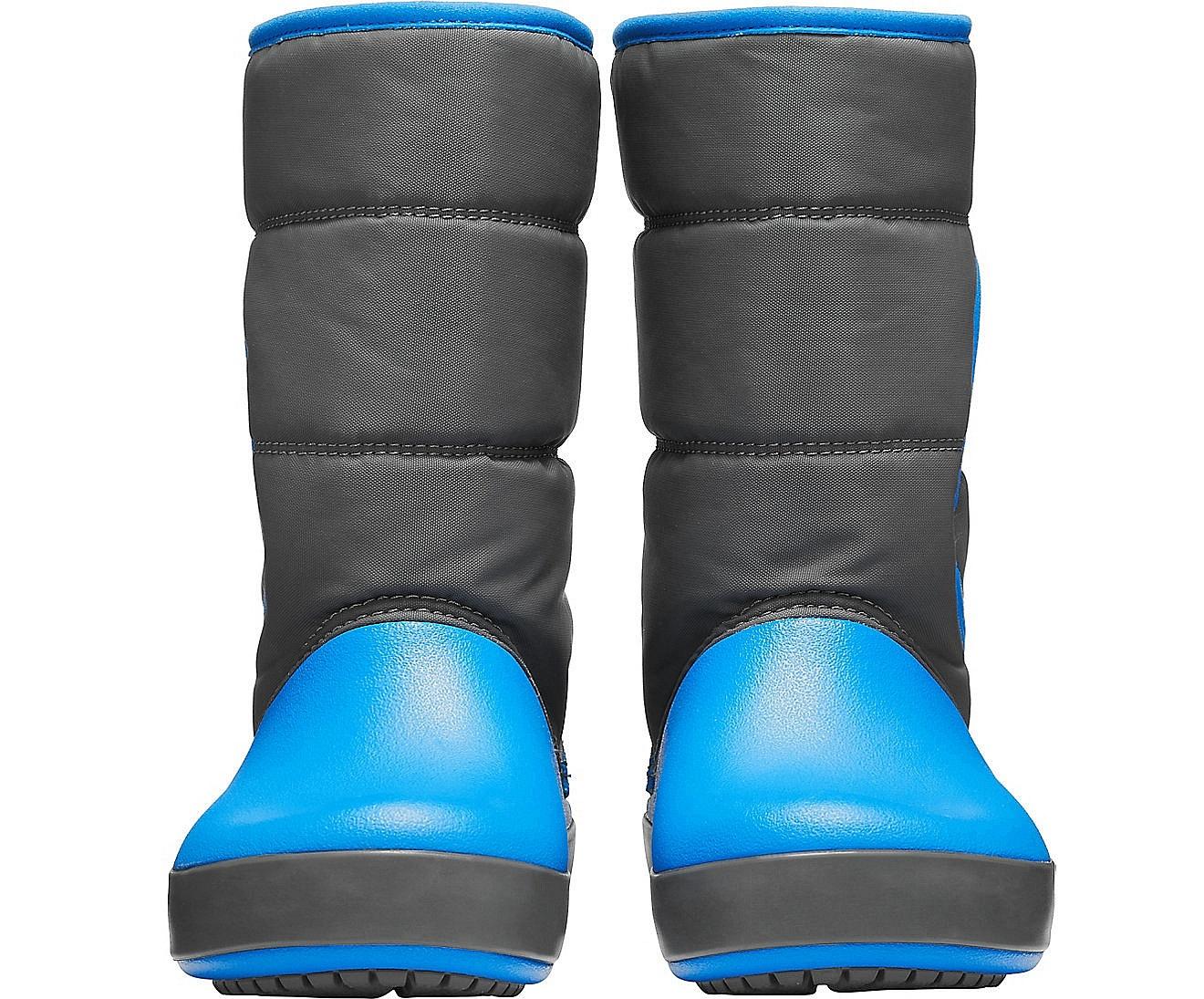 ... detské topánky Crocs Lodge Point Snow Boot - Slate Gray Ocean ... 23eb300553