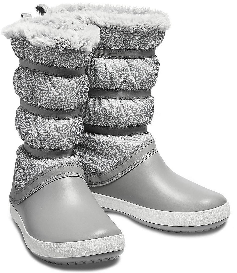 fcd0df5c398 shoes Crocs Crocband Winter Boot - Dots Smoke - women´s - Snowboard ...