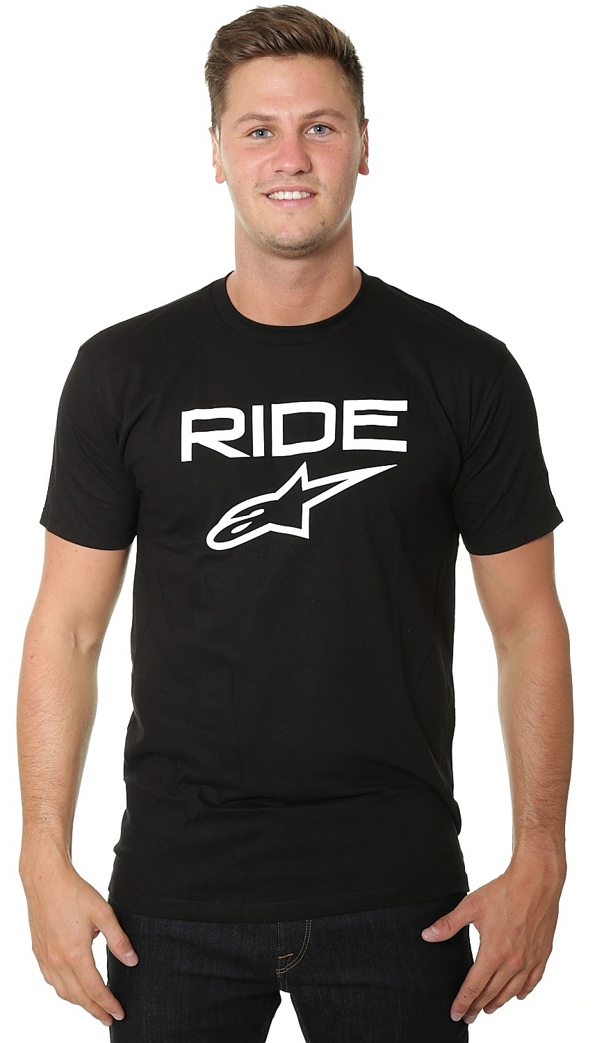 tričko Alpinestars Ride 2.0 - Black/White XL