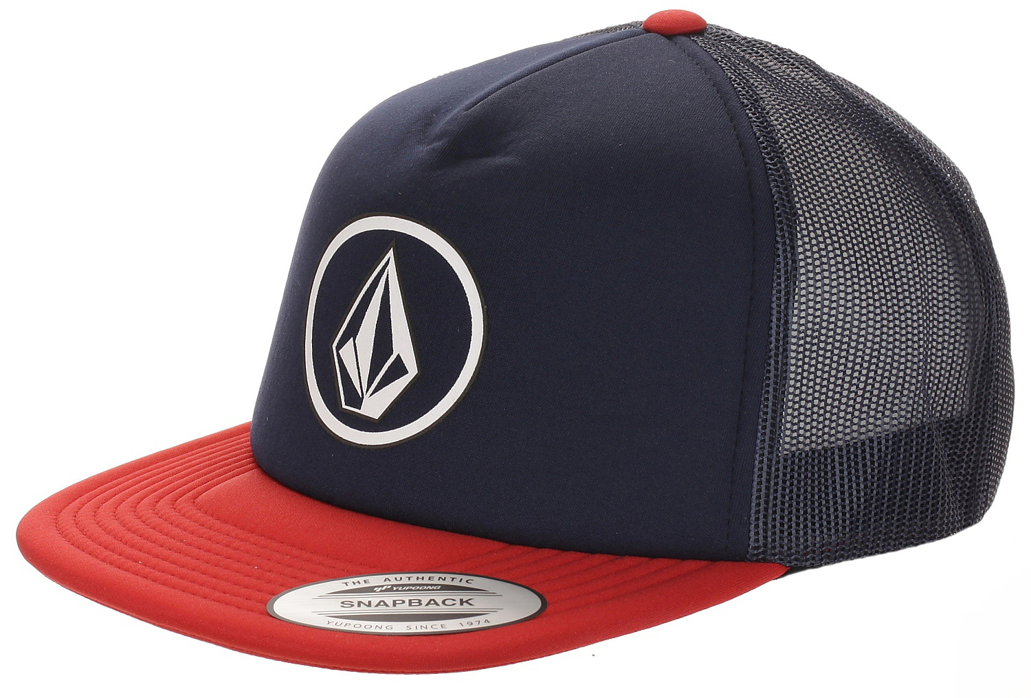 kšiltovka Volcom Full Frontal Cheese Snapback - Engine Red one size