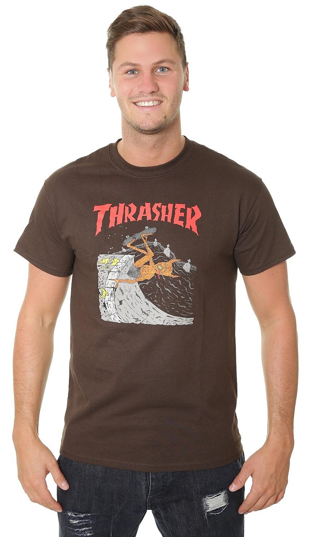 ecb6d24fe38a T-Shirt Thrasher Neckface Invert - Brown - men´s - Snowboard shop,  skateshop - snowboard-online.eu