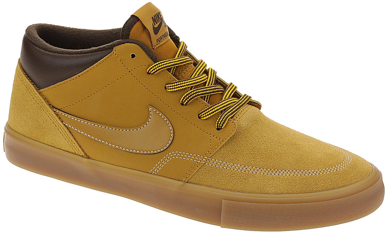 boty Nike SB Portmore II Solarsoft Mid Bota - Bronze Bronze Gum Light Brown bd98d68e49535