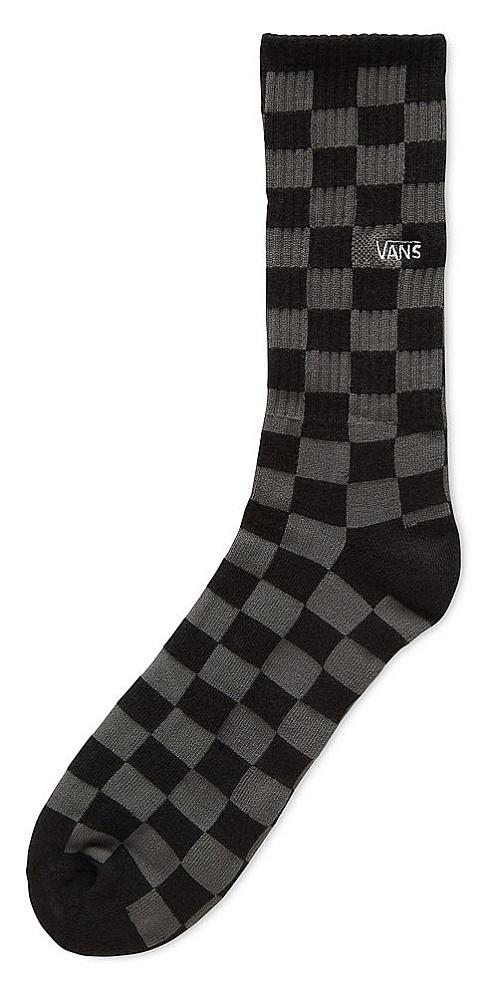 ponožky Vans Checkerboard Crew - Black/Charcoal 38.5-42