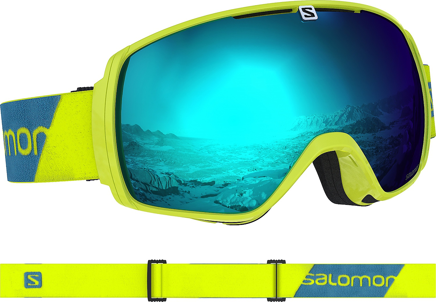 brýle Salomon XT One - Neon Yellow/Solar Blue one size