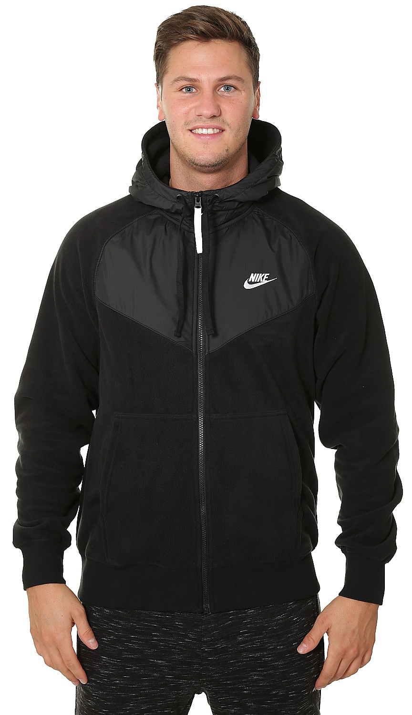 mikina Nike Sportswear Core Hoodie Zip - 010 Black Black White L eec9eb5030