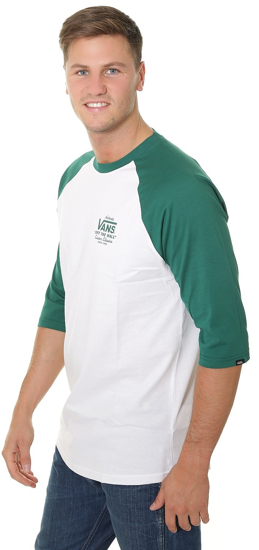 f2d2391edf T-Shirt Vans Holder ST Raglan - White Evergreen - men´s - Snowboard ...