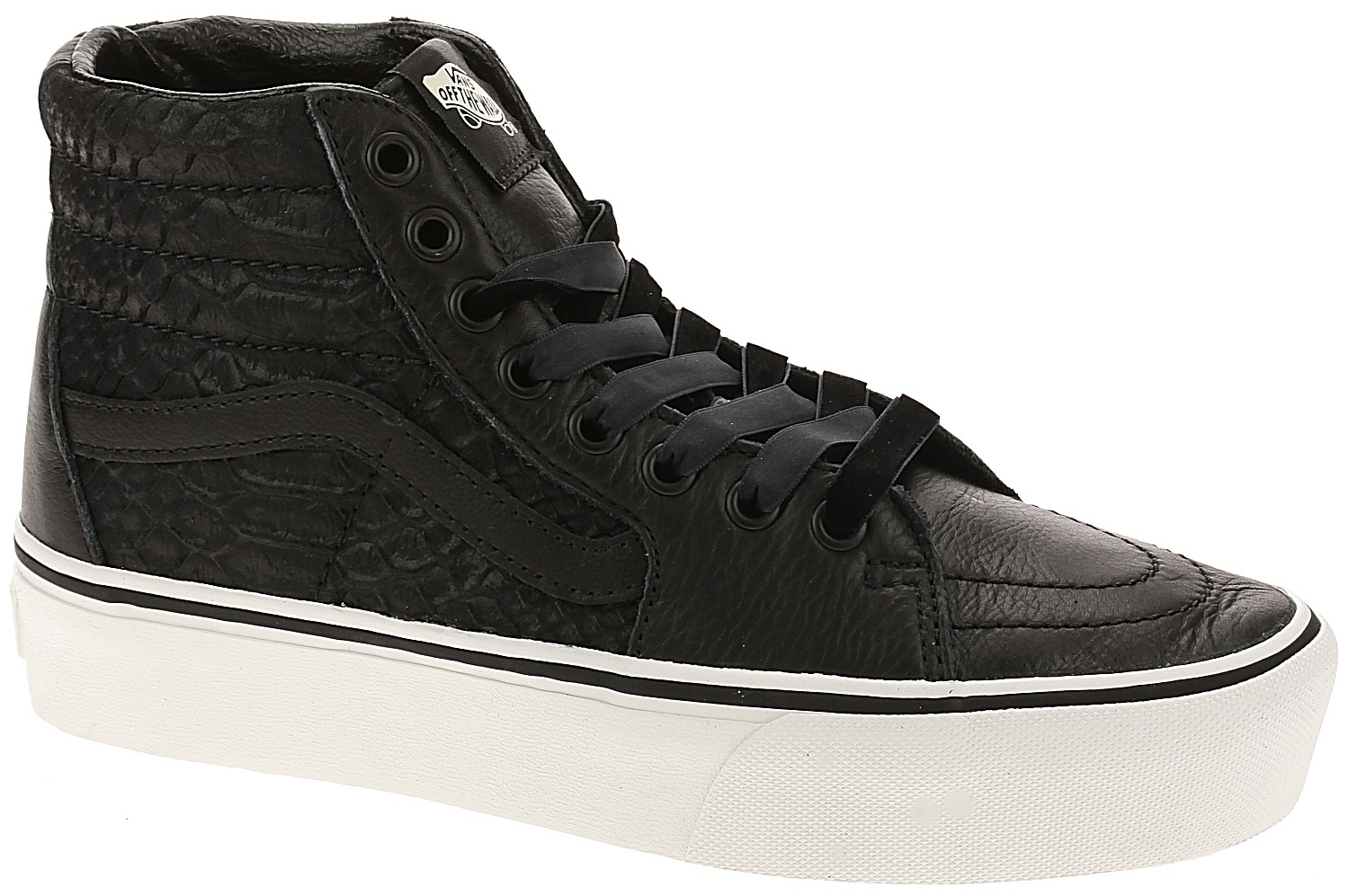 04c426032c shoes Vans Sk8-Hi Platform 2 - Leather Snake Black - Snowboard shop ...