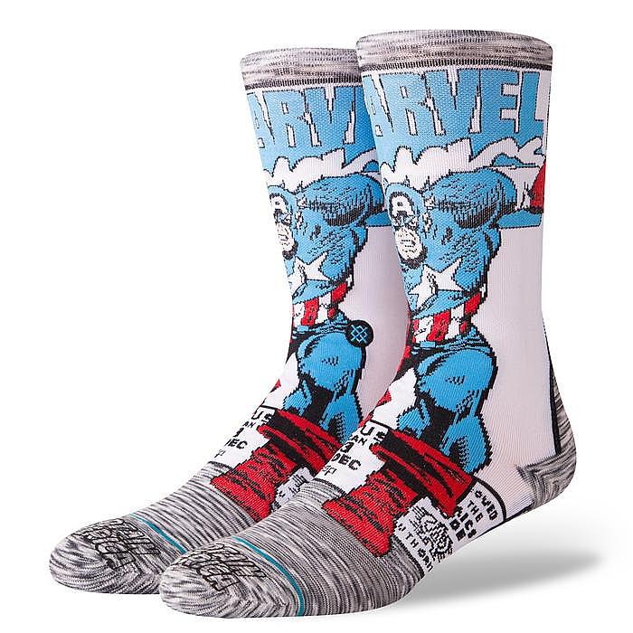 ponožky Stance Captain America Comic - Gray - Snowboard shop ... 162e8cf1e9